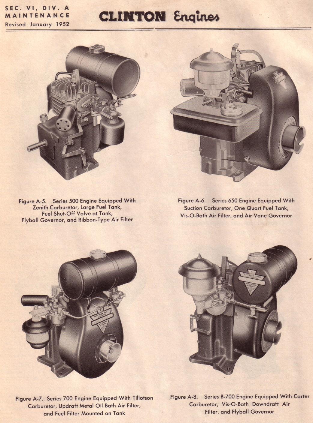 Engine Models For 1952 Carter Fuel Filters Vs 800